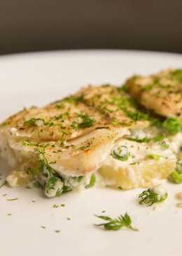 Baked Tilapia and Potatoes in Cream