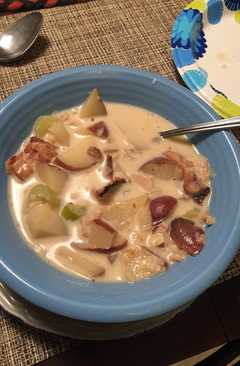 resep masakan beau and rachels crock pot new england clam chowder