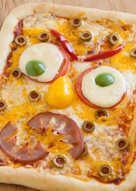 Monster Face Pizza
