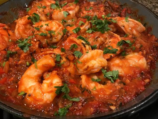 Spicy Latin-Inspired Shrimp in Tomato Sauce