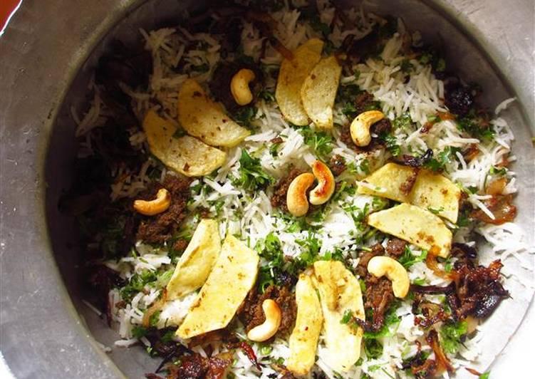 Fried Potato Dum Biryani
