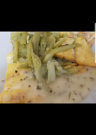 My Poached Smoked Haddock Fillets in Green Beans