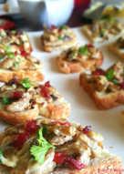 Mushroom & Cranberry Crostini