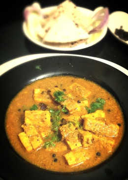 Dum Paneer Kali Mirch (Slow Cooked Indian Cottage Cheese with Crushed Black Pepper)