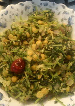 Methi leaves and Chana Dal Fry