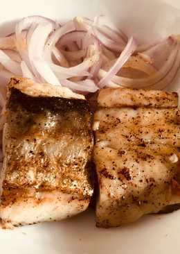 Pan Seared Garlic Indian Salmon/Rawas