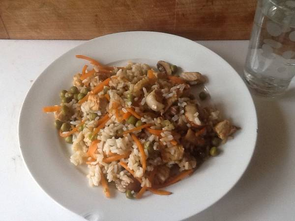 Pork and Mushroom stir fry for one person