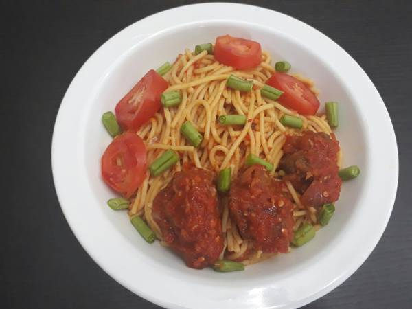 Spagetti with beef
