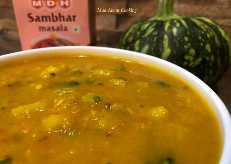 Spicy Pumpkin With Sambhar Masala – Do Try It's Yummmm