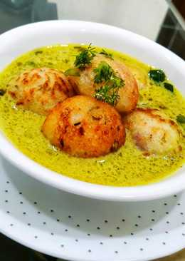 Moong Dal Appe with Peanut Curry