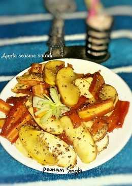 Apple seasme salad