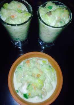Custard rabdi with poha