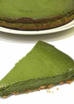 Baked Matcha Cheesecake