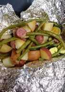 Garlic butter foil dinner bake