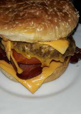 Bacon double cheese burger