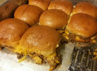 Baked Taco Burger Sliders