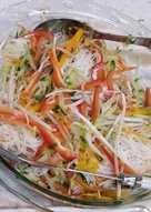 Summer rice vermicelli salad