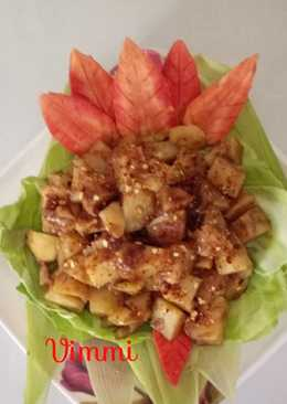 Potatoes in tamarind sauce (chilled salad)