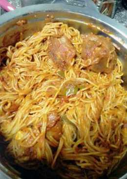 Chicken spaghettis