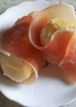 Potato raw ham rolls