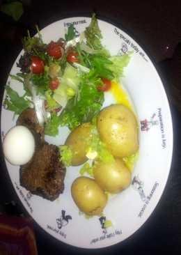 healthy option garlic steak