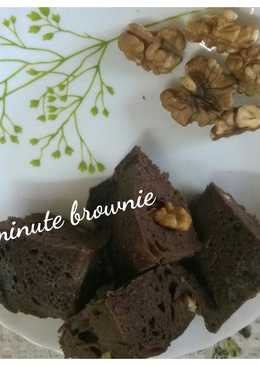 1 minute brownie in microwave