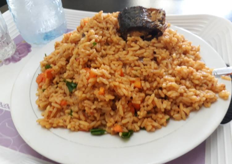 Jollof rice with carrots and green peas with fish recipe by lois jollof rice with carrots and green peas with fish ccuart Choice Image