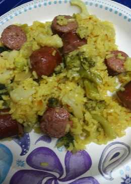 Ginger ale Sausage and Rice