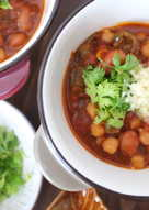 Homemade Vegetarian Chickpea and Kidney Bean Chili