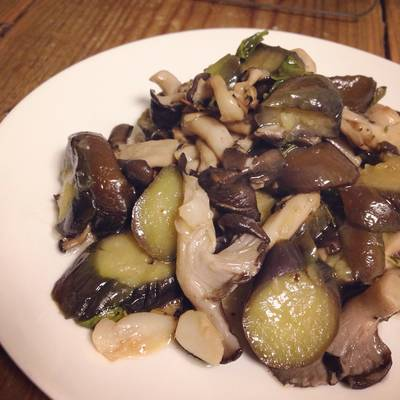 Sautéed Eggplant and Mushroom with Herbs