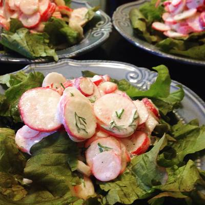 Creamy Radish Salad