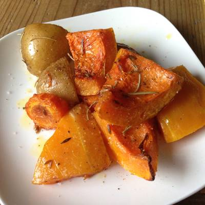 Oven Roasted Butternut Squash with Rosemary and Cumin