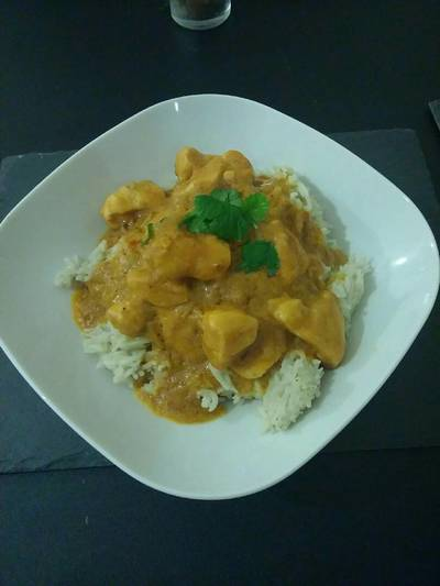 Satay Curry and coconut rice