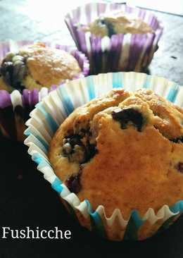Blueberry and Cheese Muffins