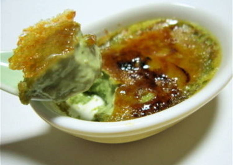 Matcha Green Tea Creme Brulee