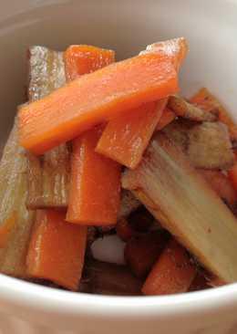 Useful Braised Burdock & Carrot
