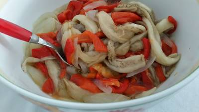 Roasted Red Pepper, Aubergine and Onion Salad (Escalivada)