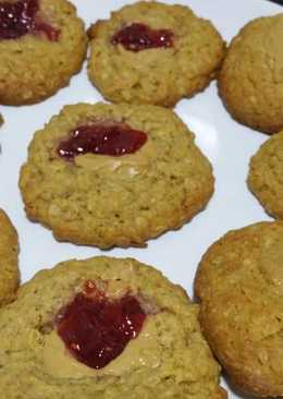 Raspberry filled oatmeal cookies recipe