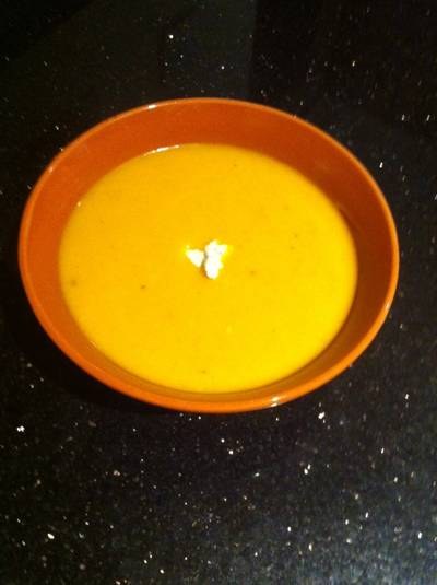 Cheese soup :