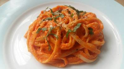 Vickys Creamy Red Pepper Pasta Sauce, GF DF EF SF NF Tomato-Free