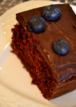 Chocolate Blueberry slab cake