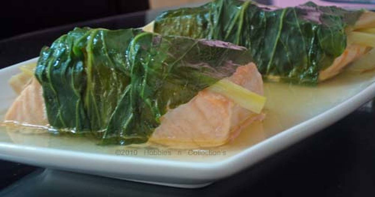 steamed pak choi and ginger wrapped salmon recipe by meh503 cookpad. Black Bedroom Furniture Sets. Home Design Ideas