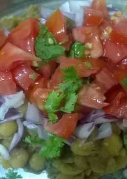 Quick and healthy Matar chaat (Dried peas, Matra, Yellow peas)