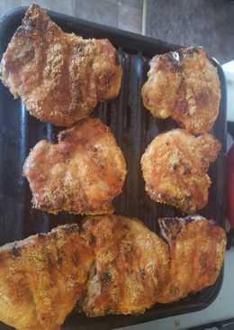 Broiled BBQ Breaded Pork Chops