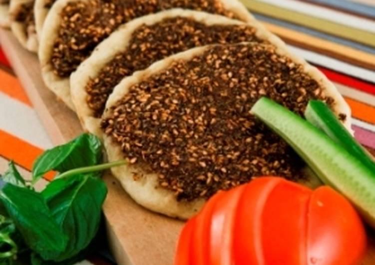 Manakish zaatar Recipe by Cooka Beirut - Cookpad