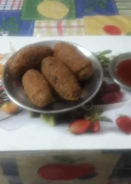 Left over chapati cutlet/ roll
