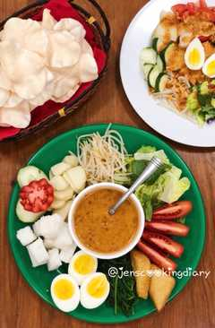 resep masakan gado gado indonesian salad with peanut dressings