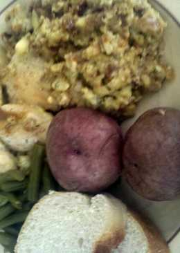 Mushroom soup stuffing papricka chicken breast