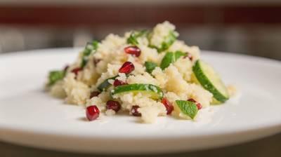 Pomegranate and lemon couscous salad