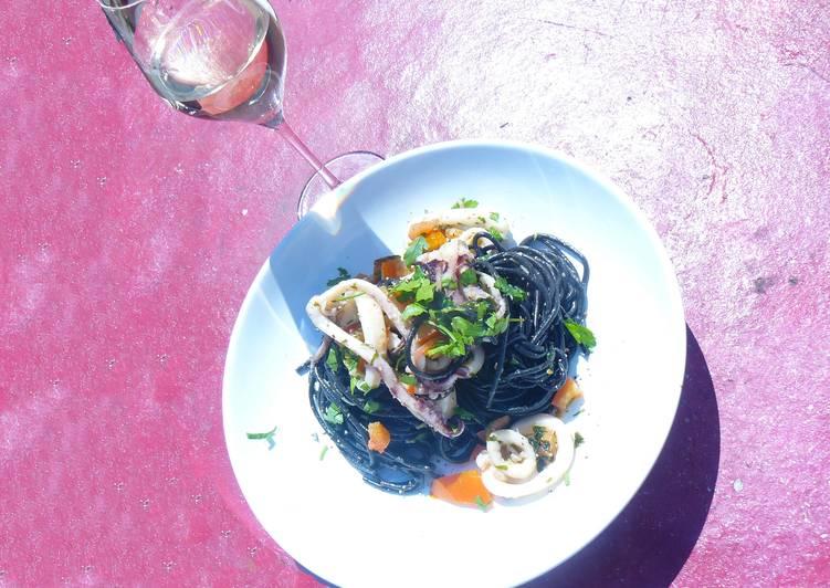 Black ink squid pasta